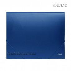 Папка на гумках А4 пластик AXENT 1508 синя