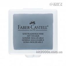 Гумка клячка Faber-Castell, серая в пластиковой коробке (127220)
