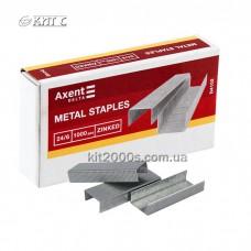Скоби для степлера №24/6 Axent Delta D4102 1000шт/уп