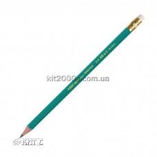Олівець чорнографітний BIC ECOLUTION пластиковий гнучкий HB з гумкою