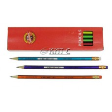 Олівець чорнографітний KIN ORIENTAL 1372 HB з гумкою