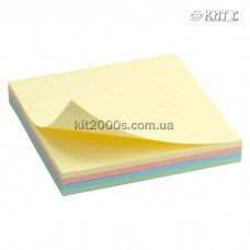 Паперовий клейкий блок Delta 75х75мм 100 арк. Rainbow Pastel