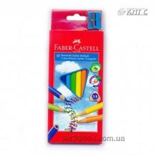 Олівці кольорові Faber-Castell «JUMBO» тригранні 10шт/набір