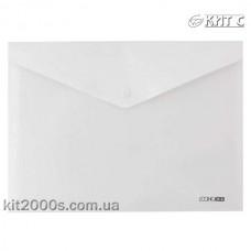 Конверт пластиковий на кнопці A4 Economix E31301-14 непрозорий білий