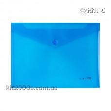 Конверт пластиковий на кнопці B5 Economix E31302-02 синій