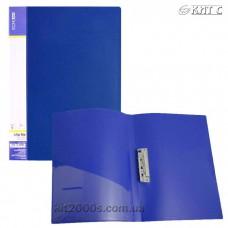 Папка з притиском + кишеня А4 пластик Economix 31202-02 синя