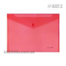 Конверт пластиковий на кнопці B5 Economix E31302-03 червоний