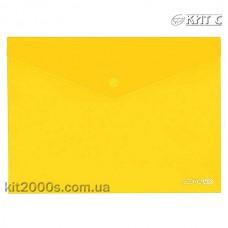 Конверт пластиковий на кнопці A4 Economix E31301-05 прозорий жовтий