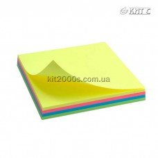 Паперовий клейкий блок Delta 75х75мм 100 арк. Rainbow NEON