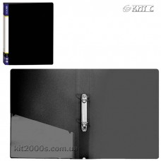 Папка пластикова 2 кільця + карман А4 35мм Economix E30701-01 чорна