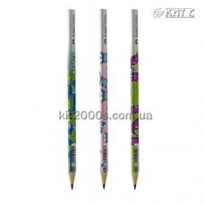 Олівець чорнографітний Faber-Castell В мотив «Монстри» тригранний