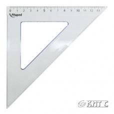 Трикутник пластик. Maped CRYSTAL 45гр/150мм