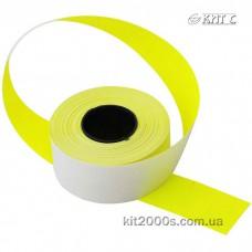 Цінник прямокутний кольоровий 26х16мм (1000шт) жовтий