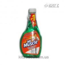 Засіб для миття скла змінна пляшка Містер Мускул зелений 500 мл