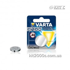 Батарейка тип CR 2032 VARTA LITHIUM (блістер на 1 шт) (06032101401)