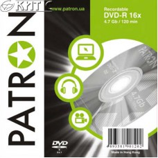 Диск DVD-R PATRON, 4.7GB, 16x (Slim case) (INS-D024)