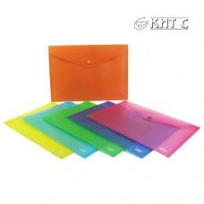 Конверт пластиковий на кнопці A4 SK-105 матовий