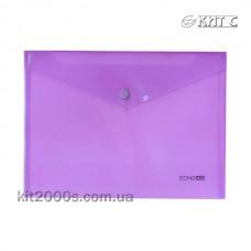 Конверт пластиковий на кнопці B5 Economix E31302-12 фіолетовий