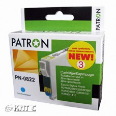 Картридж Epson T08124A (PN-0822) №3, PATRON, cyan
