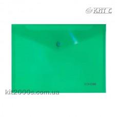 Конверт пластиковий на кнопці B5 Economix E31302-04 зелений