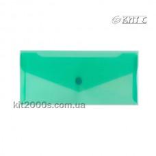 Конверт пластиковий на кнопці DL/E65 N31306-04 зелений