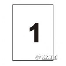 Паперова наклейка А4 (1) 210х297мм 120г/м2, 100 арк., SAPRO Labels