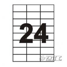 Паперова наклейка А4 (24) 70х37, 1мм, 120г/м2, 100 арк., SAPRO Labels