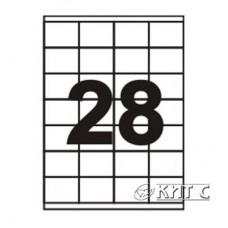 Паперова наклейка А4 (28) 52,5 х40мм, 120г/м2, 100 арк., SAPRO Labels