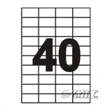 Паперова наклейка А4 (40) 52,5 Х29, 7мм 120г/м2, 100 арк., SAPRO Labels