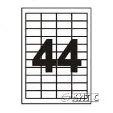 Паперова наклейка А4 (44) 48,3 х25,4 мм 120г/м2, 100 арк., SAPRO Labels
