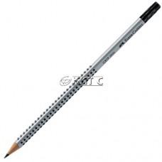 Олівець чорнографітний Faber-Castell 1172 «GRIP 2001» HB з гумкою