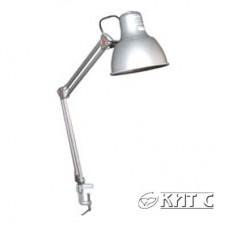 Світильник DELUX TF-06 на струбцині 2 коліна сірий Е27