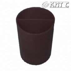 Підставка стакан для ручок пластик чорний КіП