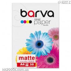 Фотопапір BARVA матовий (IP-A180-032), А4, 50 аркушів