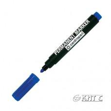 Маркер перманентний Centropen 8566 синій кулевидний
