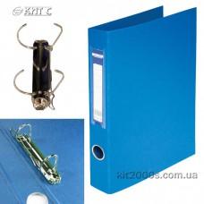Папка картонна 2 кільця А4 BUROMAX PVC LUX, синя