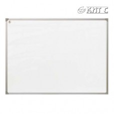 Дошка для маркера сух/маг  настінна 100x150см з метал. окант. C- line (полка)