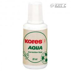 Коректор з пензликом Kores Aqua 20мл (на водній основі)