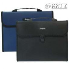Портфель пластиковий 3 вітд. A4 KLA4-03H SK чорний
