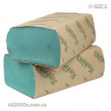 Рушник паперовий Z-складання 25х23см, 200 шт, зелений ТМ Кохавинка