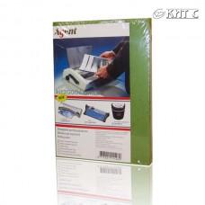Обкладинка для біндера картон під шкіру A4 230г зелена оливкова 100л/пач