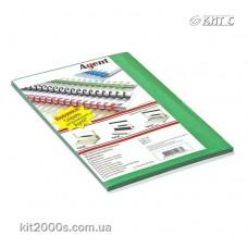 Обкладинка для біндера картон під шкіру A4 230г зелена яскрава 100л/пач