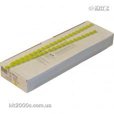 Пружина пластикова 06мм до 20арк жовта 100шт/пач