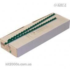 Пружина пластикова 10мм до 55арк зелена 100шт/пач