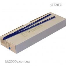 Пружина пластикова 25мм до 210арк синя 50шт/пач