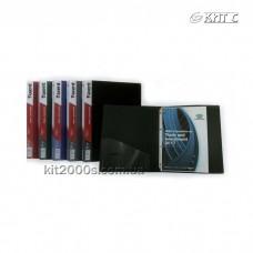 Папка пластикова 4 кільця + карман А4 35мм AXENT 1202/ 1208 асорті