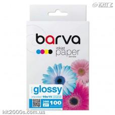 Фотопапір BARVA глянцевий (IP-C200-125), 10x15, 100 аркушів