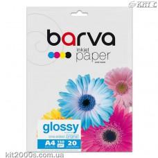 Фотопапір BARVA глянцевий (IP-C150-T02), А4, 20 аркушів