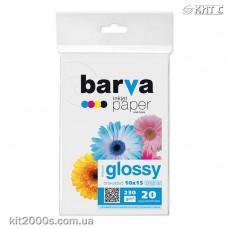 Фотопапір BARVA глянцевий (IP-C230-014), 10x15, 20 аркушів