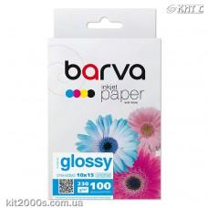 Фотопапір BARVA глянцевий (IP-C230-126), 10x15, 100 аркушів